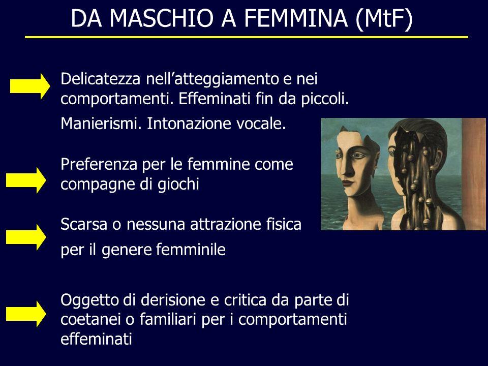 DA MASCHIO A FEMMINA (MtF) Delicatezza nellatteggiamento e nei comportamenti.