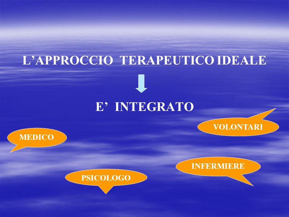LAPPROCCIO TERAPEUTICO IDEALE E INTEGRATO PSICOLOGO INFERMIERE VOLONTARI MEDICO