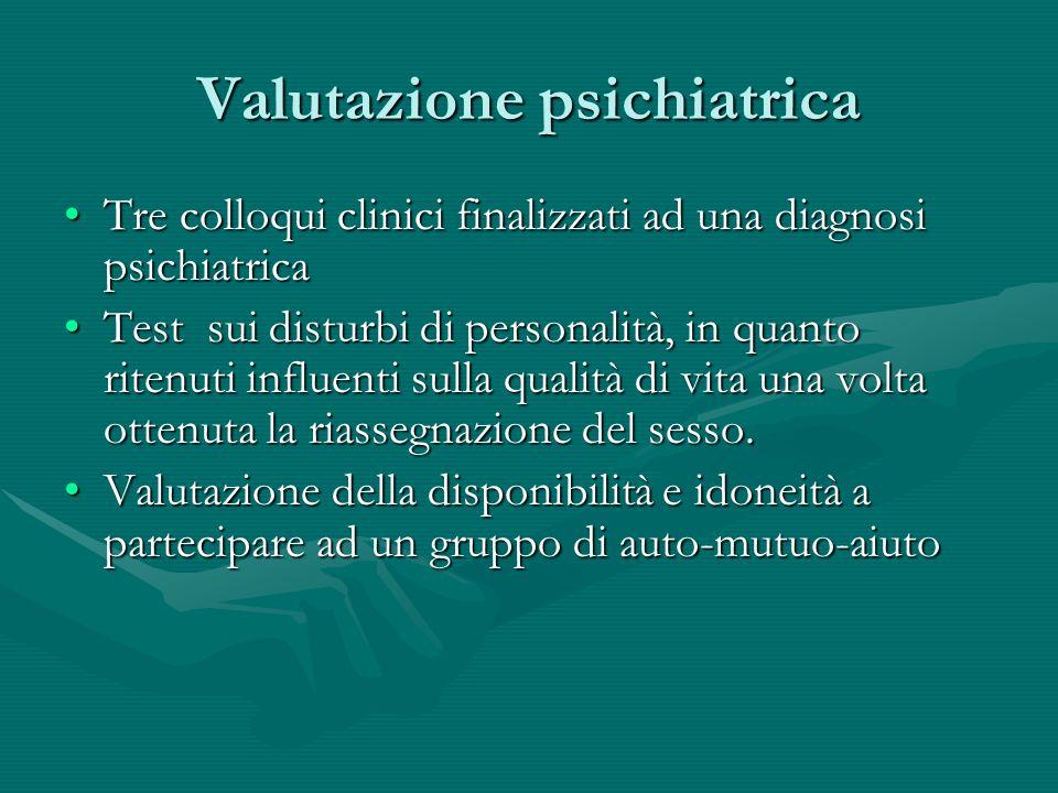 Valutazione psichiatrica Tre colloqui clinici finalizzati ad una diagnosi psichiatricaTre colloqui clinici finalizzati ad una diagnosi psichiatrica Te