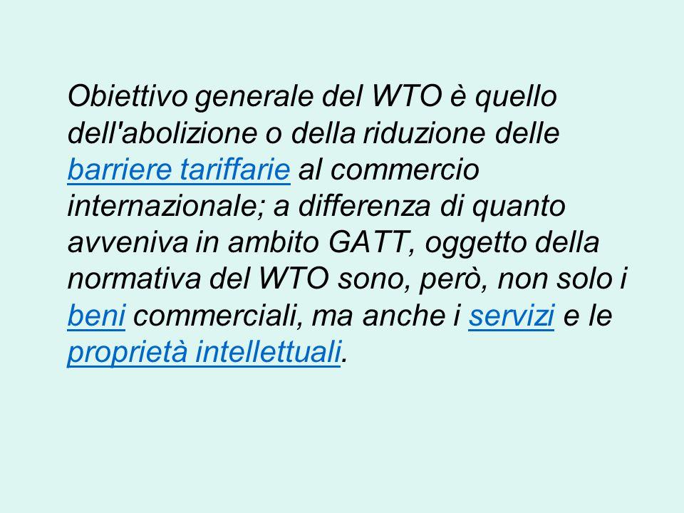 OMC (WTO) L'Organizzazione Mondiale del Commercio (OMC), World Trade Organization (WTO), è un'organizzazione internazionale creata allo scopo di super