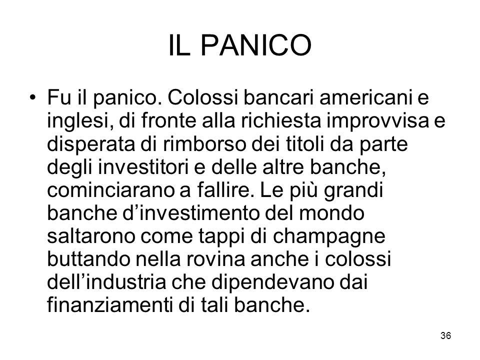 36 IL PANICO Fu il panico.