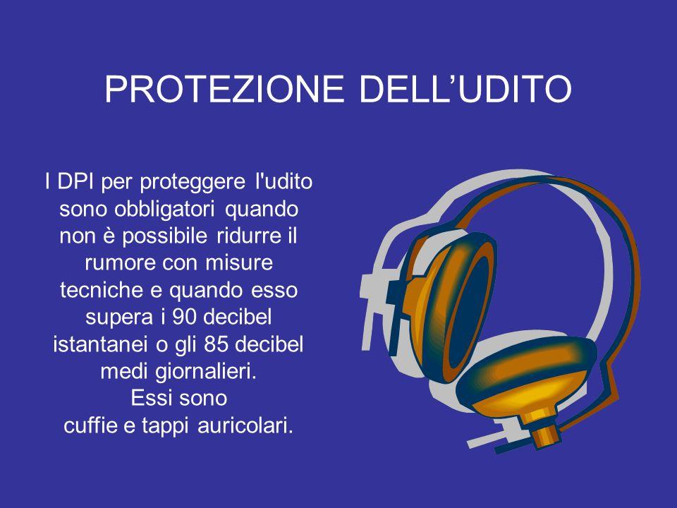 I DPI per proteggere l'udito sono obbligatori quando non è possibile ridurre il rumore con misure tecniche e quando esso supera i 90 decibel istantane
