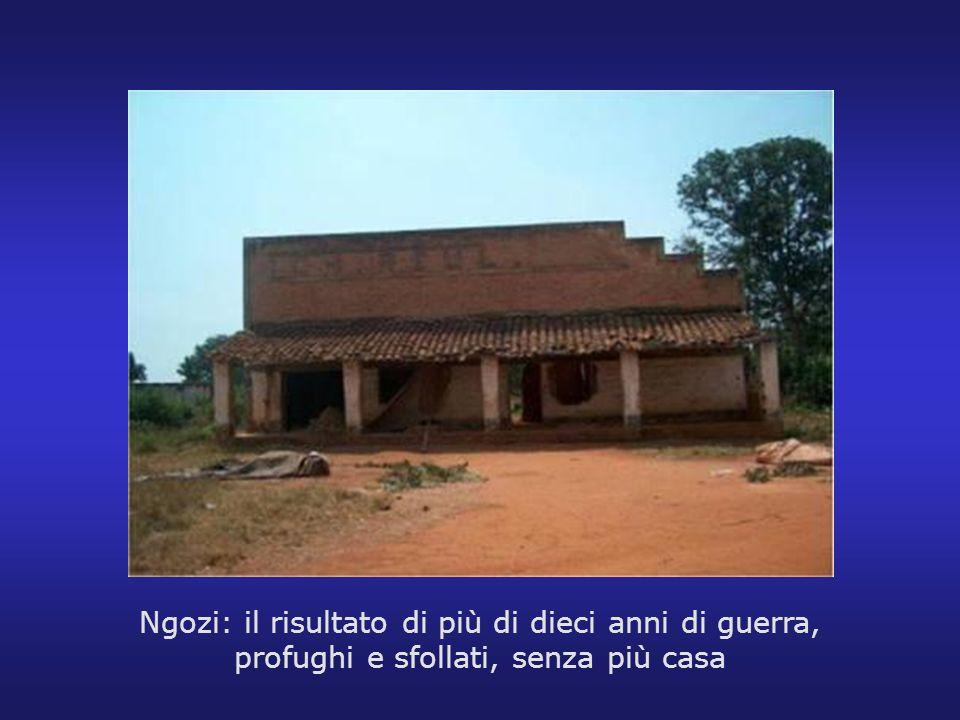 Ngozi: il risultato di più di dieci anni di guerra, profughi e sfollati, senza più casa