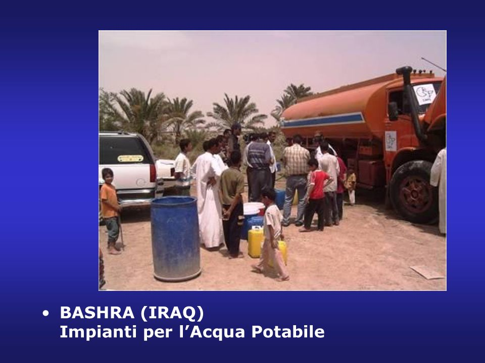 BASHRA (IRAQ) Impianti per lAcqua Potabile