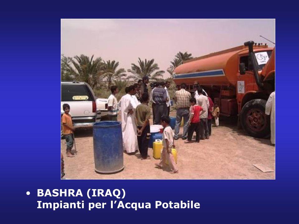 BASHRA (IRAQ) Impianti per lAcqua Potabile