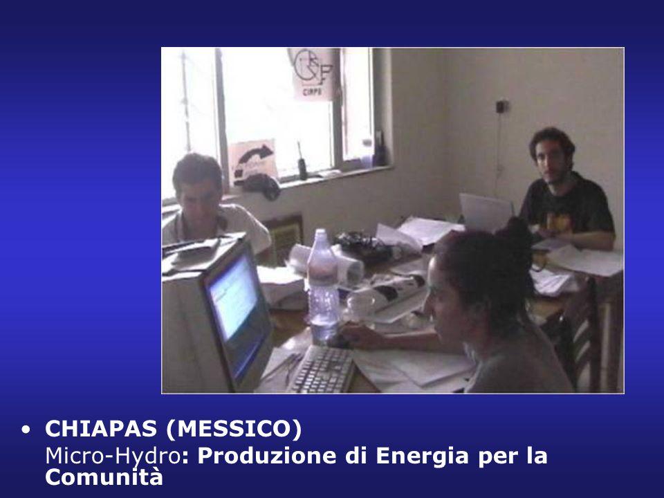 CHIAPAS (MESSICO) Micro-Hydro: Produzione di Energia per la Comunità