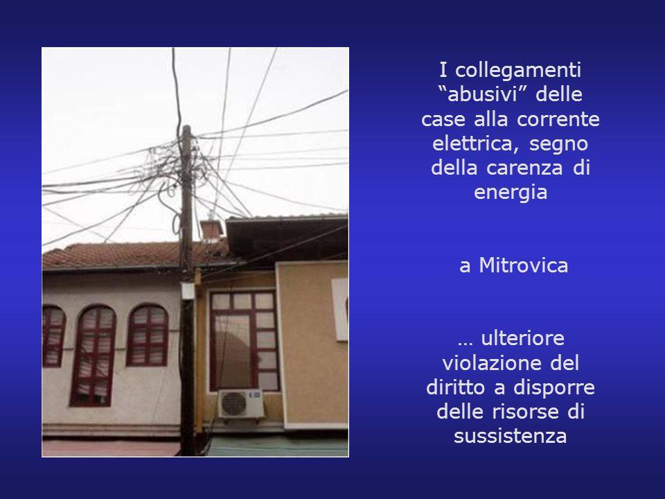 I collegamenti abusivi delle case alla corrente elettrica, segno della carenza di energia a Mitrovica … ulteriore violazione del diritto a disporre de