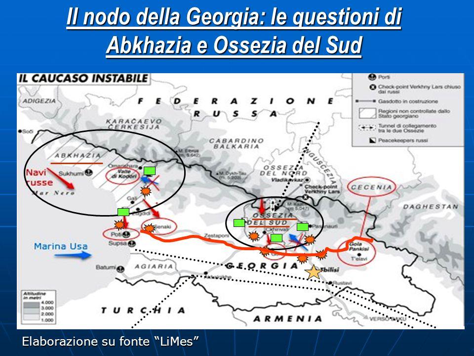 Il nodo della Georgia: le questioni di Abkhazia e Ossezia del Sud Elaborazione su fonte LiMes