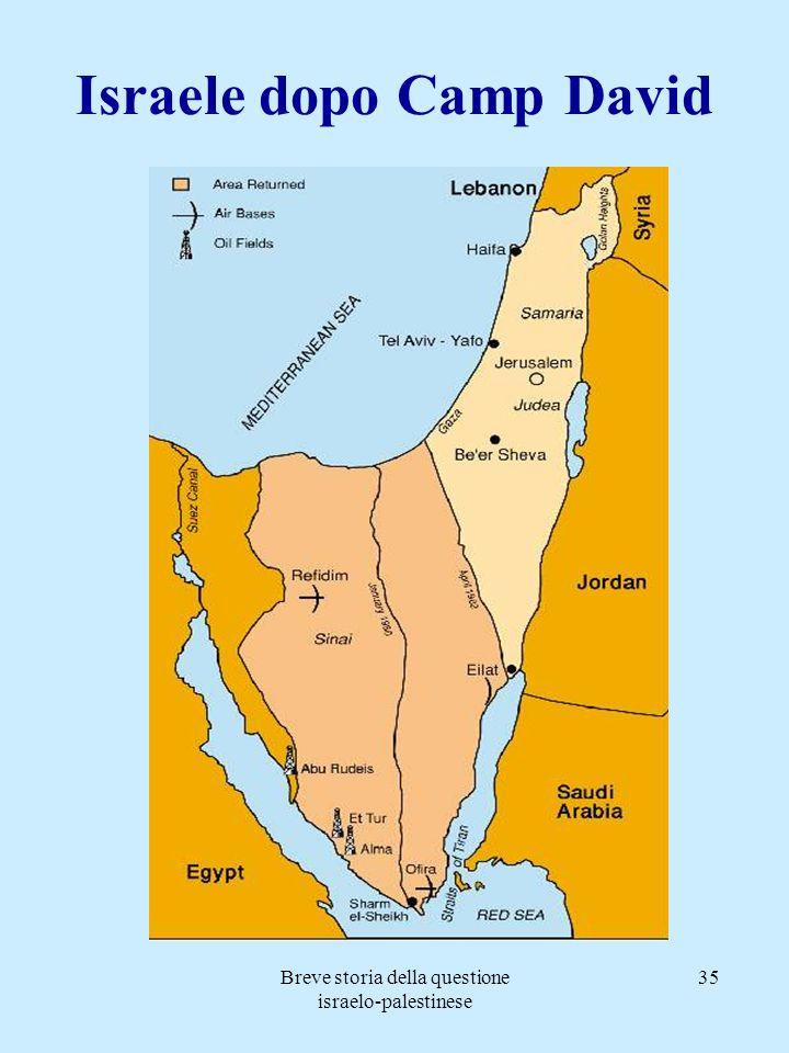 Breve storia della questione israelo-palestinese 35 Israele dopo Camp David