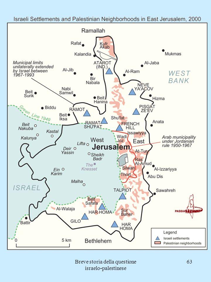 Breve storia della questione israelo-palestinese 63