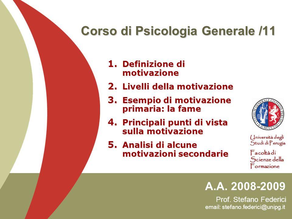 22 Una motivazione primaria: la fame Psicopatologia dellalimentazione Obesità Obesità Il peso corporeo supera del 30% il livello standard di un individuo.