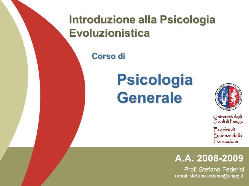 Prof. Stefano Federici email: stefano.federici@unipg.it A.A. 2008-2009 Università degli Studi di Perugia Facoltà di Scienze della Formazione Introduzi
