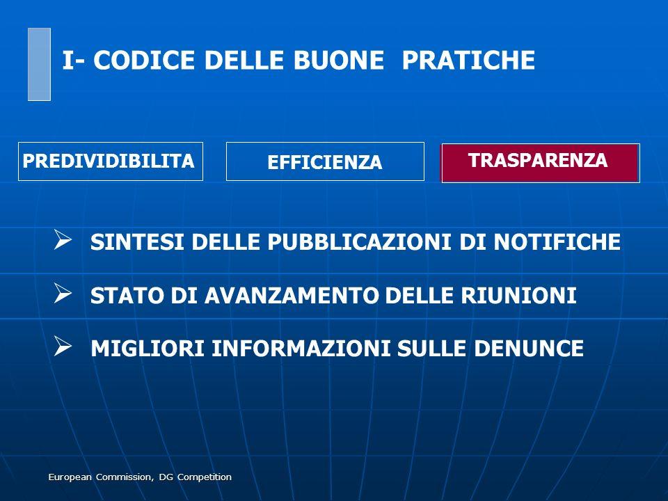 European Commission, DG Competition SINTESI DELLE PUBBLICAZIONI DI NOTIFICHE STATO DI AVANZAMENTO DELLE RIUNIONI MIGLIORI INFORMAZIONI SULLE DENUNCE I