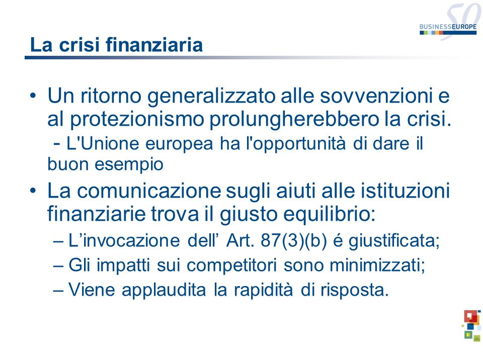 Aiuti di stato e innovazione La struttura normativa del 2006 segna un miglioramento.