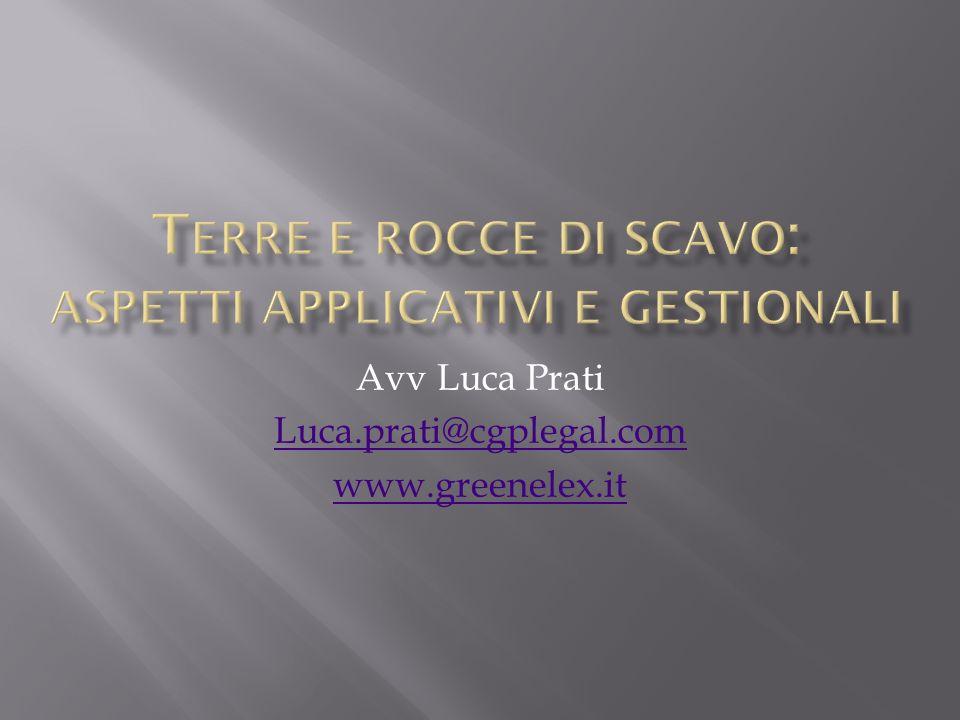 Avv Luca Prati Luca.prati@cgplegal.com www.greenelex.it