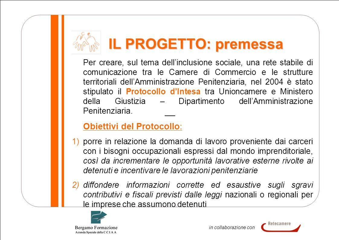 2 In collaborazione in collaborazione con IL PROGETTO: premessa