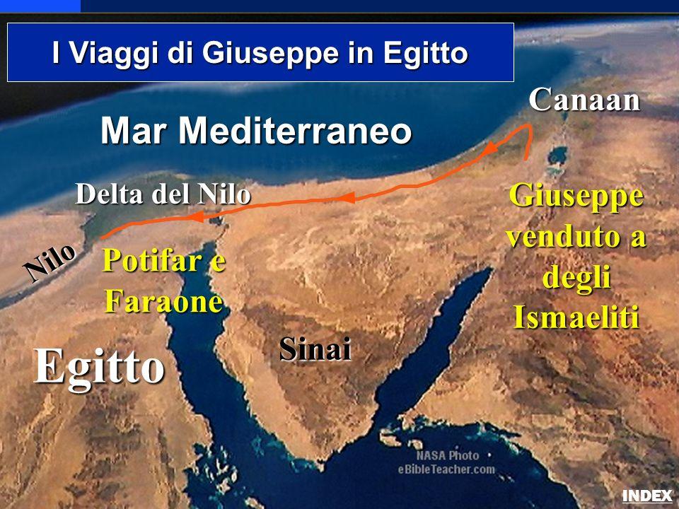 Egitto Nilo Delta del Nilo Mar Mediterraneo Sinai Canaan I Viaggi di Giuseppe in Egitto Giuseppe venduto a degli Ismaeliti Potifar e Faraone Josephs J