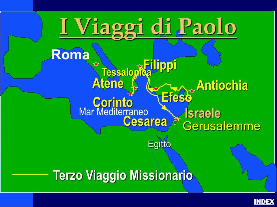 Paul-3rd Missionary Journey Pauls 3rd Journey INDEX Terzo Viaggio Missionario Israele Gerusalemme Egitto I Viaggi di Paolo Roma Antiochia Filippi Cori