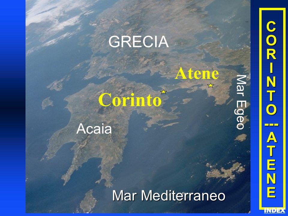 C O R I N T O --- A T E N E Acaia Corinto GRECIA Mar Egeo Atene Mar Mediterraneo Corinth/Athens INDEX
