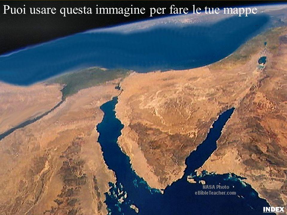 Puoi usare questa immagine per fare le tue mappe Sinai/Egypt Blank Map INDEX