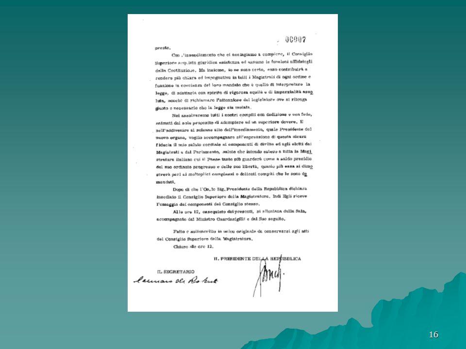 17 SEDUTA DEL 14/11/1959 Occasione della presenza del Capo dello Stato: Esame pratiche allo.d.g..