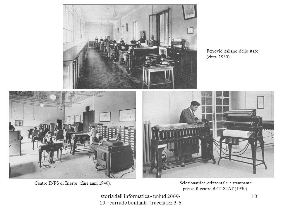 storia dell'informatica - uniud 2009- 10 - corrado bonfanti - traccia lez.5-6 10 Selezionatrice orizzontale e stampante presso il centro dellISTAT (19