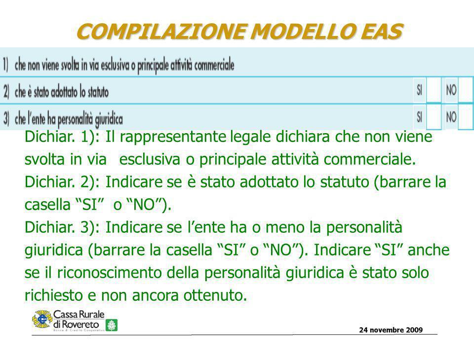 COMPILAZIONE MODELLO EAS Dichiar.
