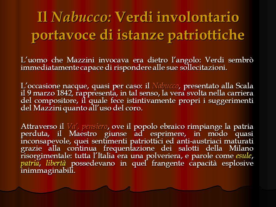 Mazzini: Filosofia della musica Nellopera, apparsa nel 1836, il patriota genovese: sollecita un profondo rinnovamento della musica e del melodramma it