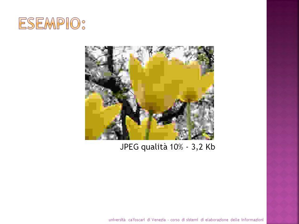 JPEG qualità 10% - 3,2 Kb