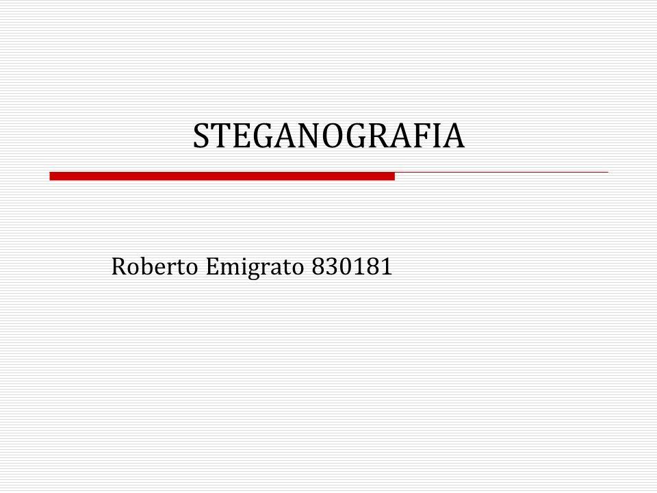 STEGANOGRAFIA Roberto Emigrato 830181