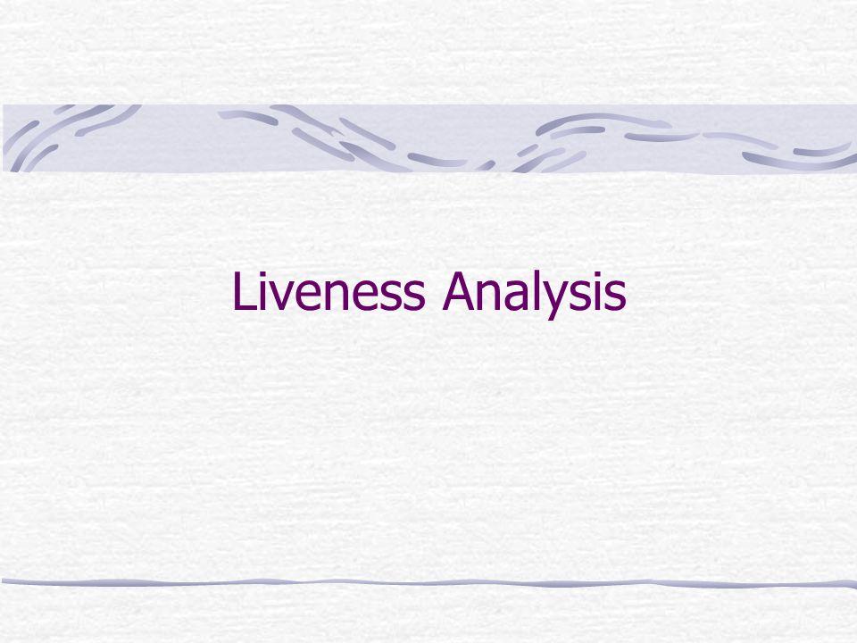 Liveness Analysis