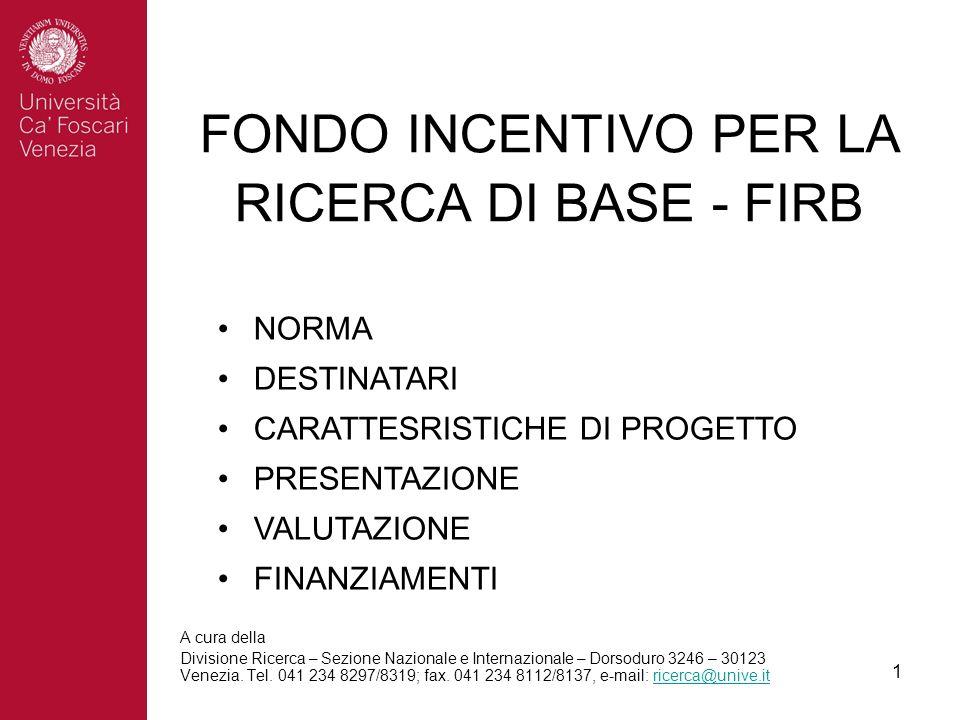 1 A cura della Divisione Ricerca – Sezione Nazionale e Internazionale – Dorsoduro 3246 – 30123 Venezia.