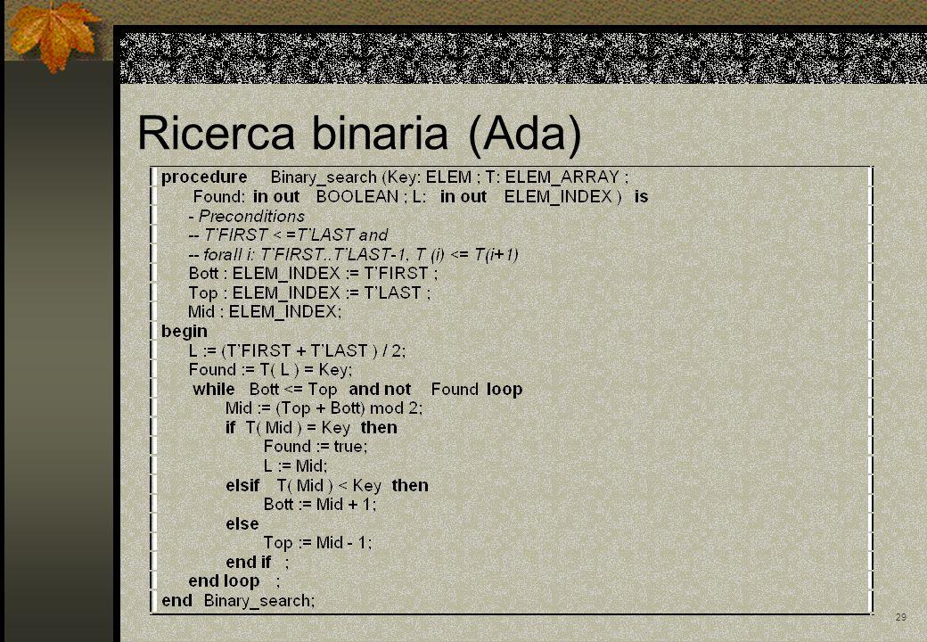 29 Ricerca binaria (Ada)