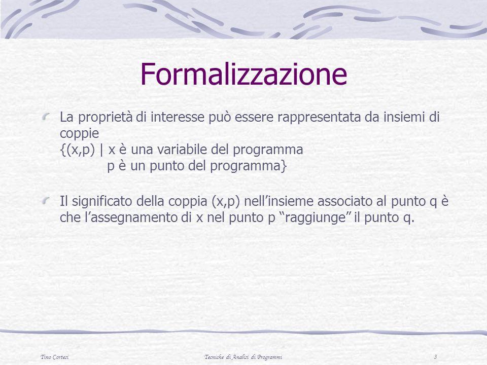 Tino CortesiTecniche di Analisi di Programmi 14 Regola 2 2.