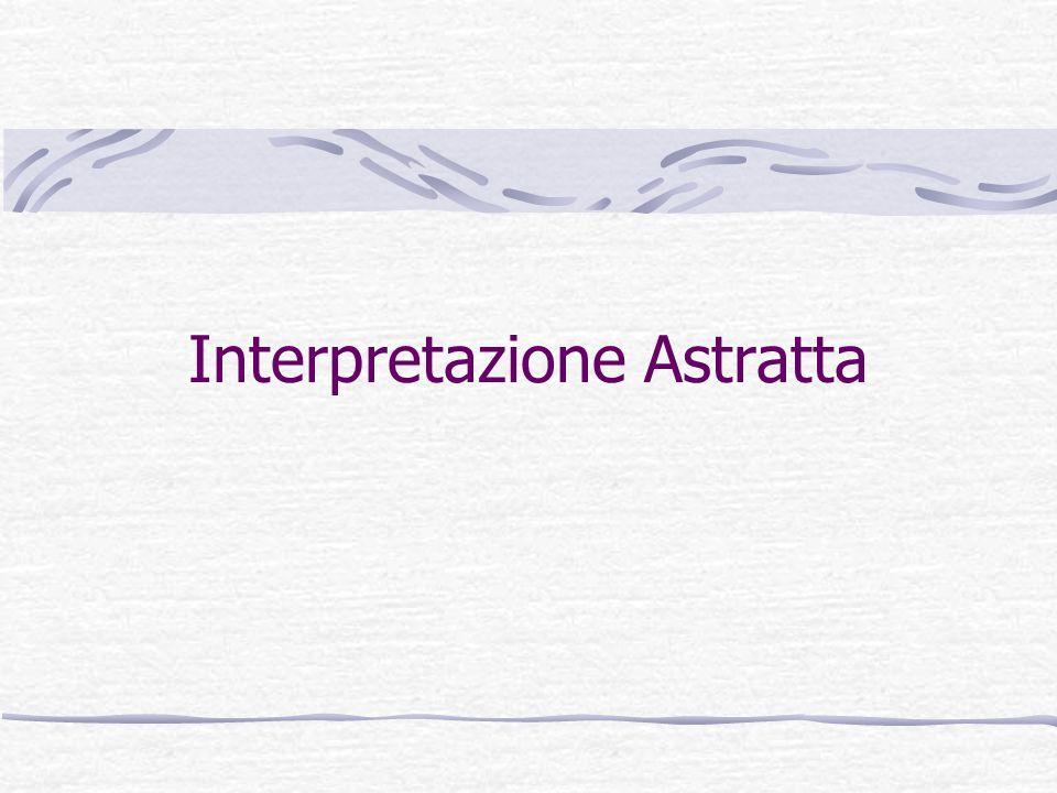 Tino CortesiAnalisi e Verifica di Programmi 22 Definizione Generale Una Interpretazione Astratta consiste in: Un dominio astratto A ed un dominio concreto D A e D reticoli completi.
