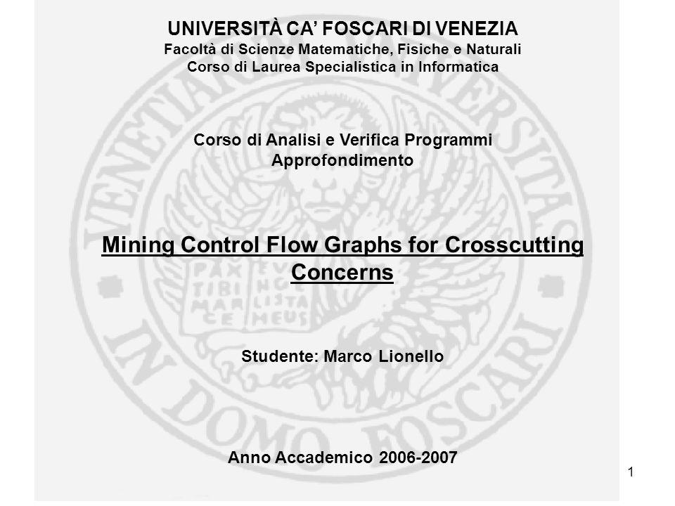 Marco LionelloMining Control Flow Graph for Crosscutting Concerns 22 Bibliografia