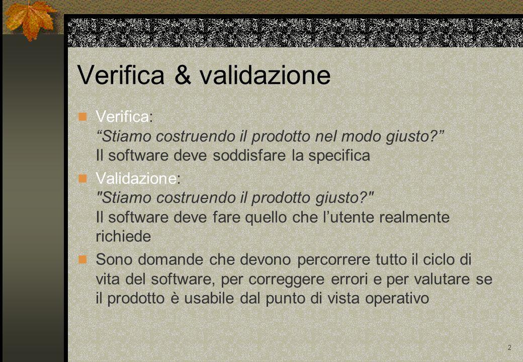2 Verifica: Stiamo costruendo il prodotto nel modo giusto.