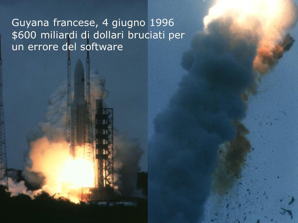 Tino CortesiAnalisi e Verifica di Programmi 3 Guyana francese, 4 giugno 1996 $600 miliardi di dollari bruciati per un errore del software