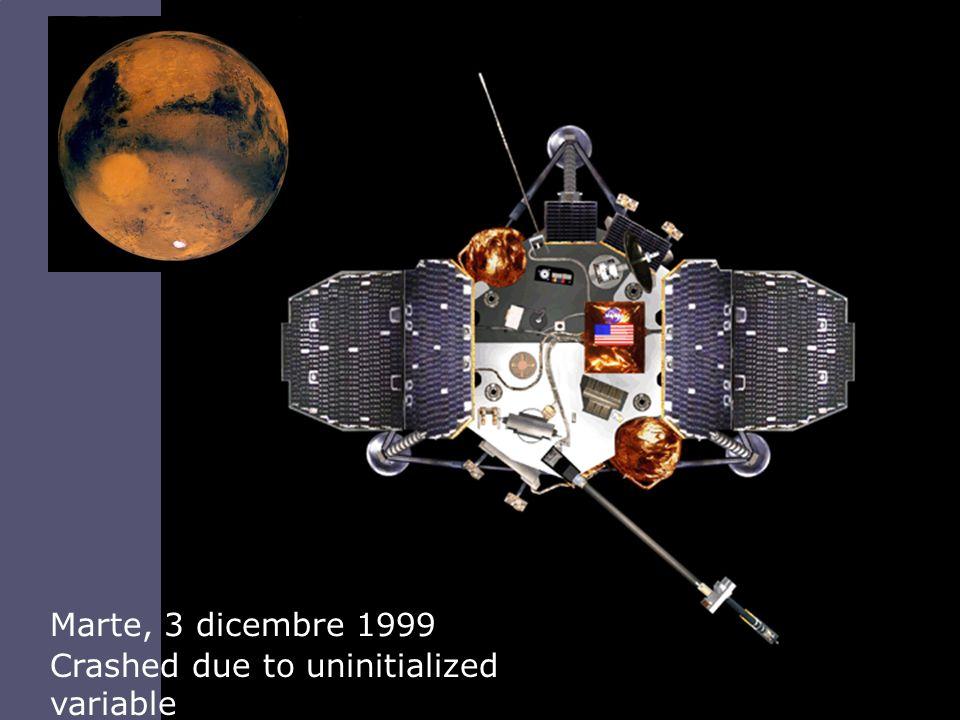 Tino CortesiAnalisi e Verifica di Programmi 4 Marte, 3 dicembre 1999 Crashed due to uninitialized variable