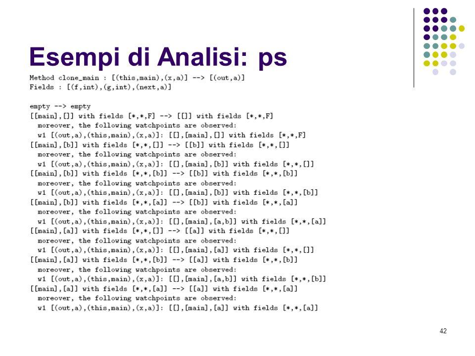 42 Esempi di Analisi: ps
