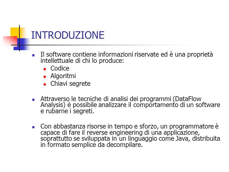 ALGORITMI DOFFUSCAMENTO: ALGORITMO 2(SelectCode) Input Il mapping della priorità di offuscamento I come computato dallalgoritmo 6 Output: un codice oggetto sorgente S.