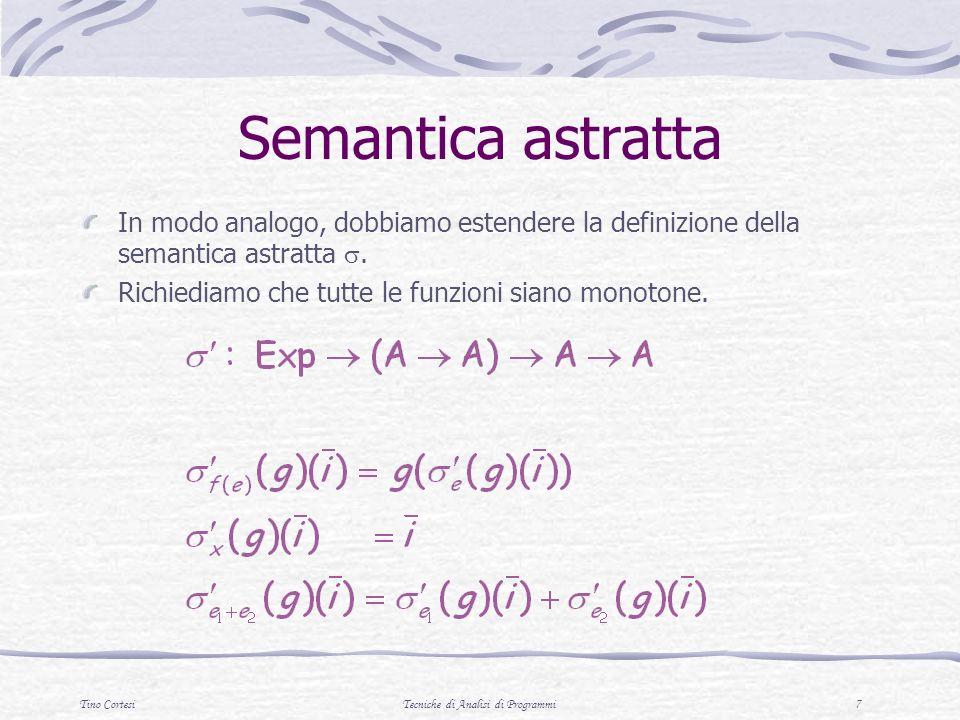 Tino CortesiTecniche di Analisi di Programmi 8 Semantica della ricorsione