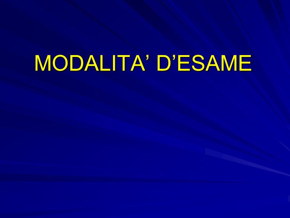 MODALITA DESAME