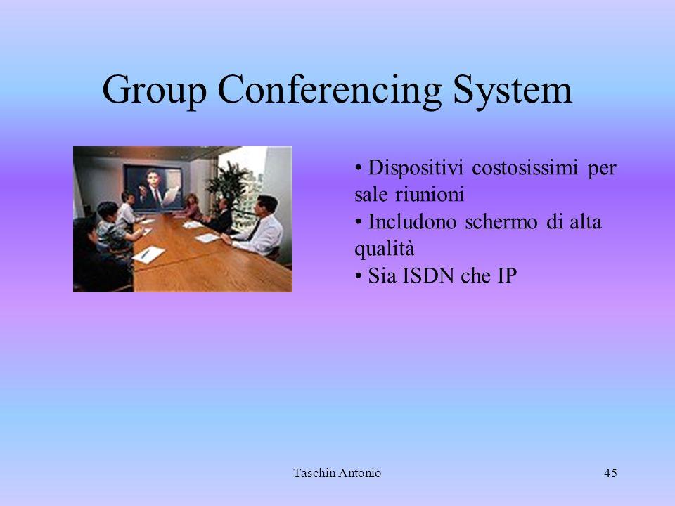 Taschin Antonio45 Group Conferencing System Dispositivi costosissimi per sale riunioni Includono schermo di alta qualità Sia ISDN che IP