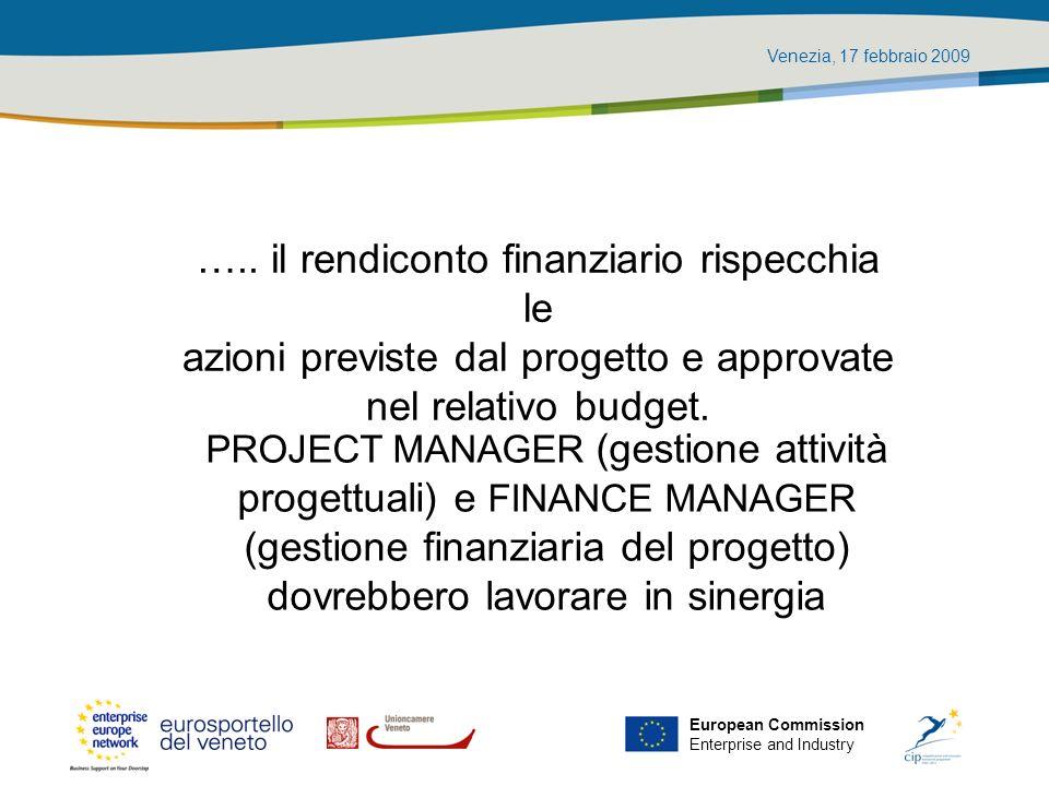 Venezia, 17 febbraio 2009 European Commission Enterprise and Industry Giustificativi di spesa e documentazione di supporto Tutti i giustificativi di spesa e tutta la documentazione di supporto deve essere trasmessa in copia conforme alloriginale.