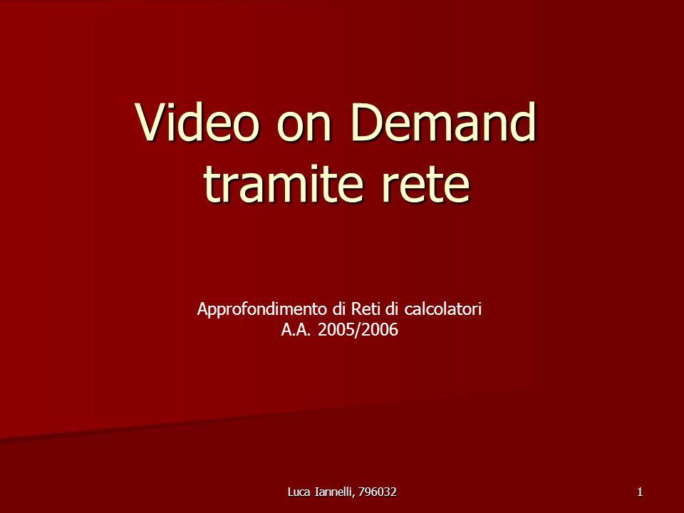 Luca Iannelli, 796032 1 Video on Demand tramite rete Approfondimento di Reti di calcolatori A.A.
