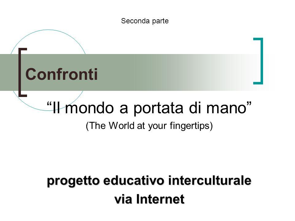 Confronti Il mondo a portata di mano (The World at your fingertips) progetto educativo interculturale via Internet Seconda parte