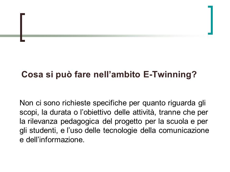 Cosa si può fare nellambito E-Twinning.