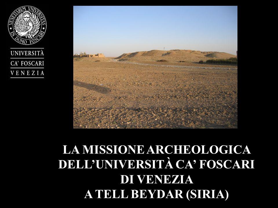 LA MISSIONE ARCHEOLOGICA DELLUNIVERSITÀ CA FOSCARI DI VENEZIA A TELL BEYDAR (SIRIA)