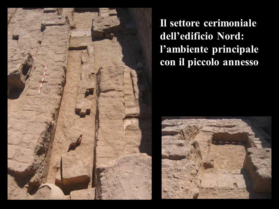 Il settore cerimoniale delledificio Nord: lambiente principale con il piccolo annesso